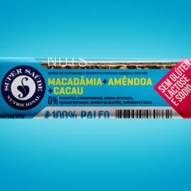 Barra nuts macadâmia + amêndoa + cacau 25g (Super Saúde)