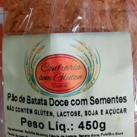 Pão de Batata Doce com sementes 450g (Confraria sem Glúten)