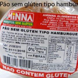 Pão sem glúten tipo hambúrguer 75g (Aminna)