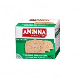 Torrada  integral sem glúten e açúcar 90g (Aminna)