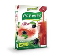 Tisana Chá Vermelho sabor Amora 10stick (Maxinutri)