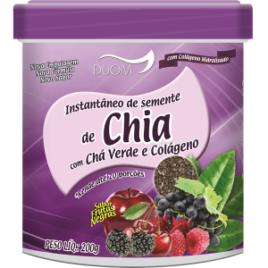 Instantâneo de Chia, Chá Verde e Colágeno 200g (Duom)