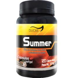 Summer com Óleo de cartamo + coco + chia + Picolinato de cromo 120 cps (Duom)