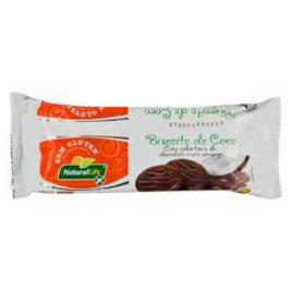 Biscoito de Coco com cobertura de Chocolate meio amargo – 140g (Naturallife)
