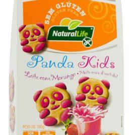 Biscoito Amanteigado Panda kids Leite com Morango – 100g (Naturallife)
